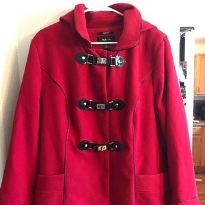 Red wool coat
